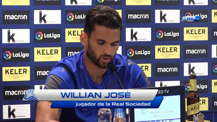 """Willian José: """"Estaré aquí hasta que el club quiera"""""""