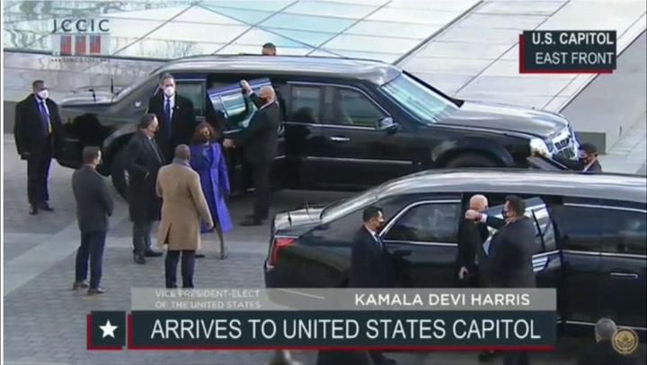 Joe Biden llegó de esta manera al Capitolio para dar inicio a la jornada de investidura