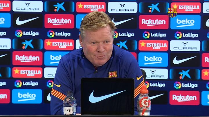 Koeman confirma que el presidente le explicó lo de la Superliga