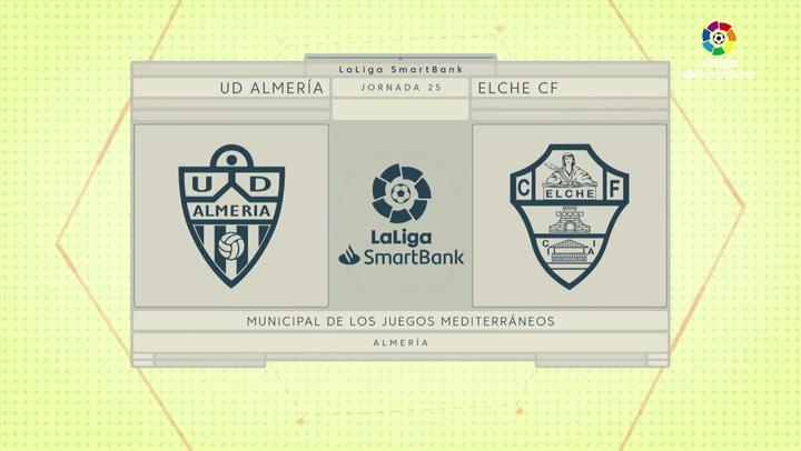 LaLiga SmartBank (J25): Resumen y goles del Almería 0-2 Elche