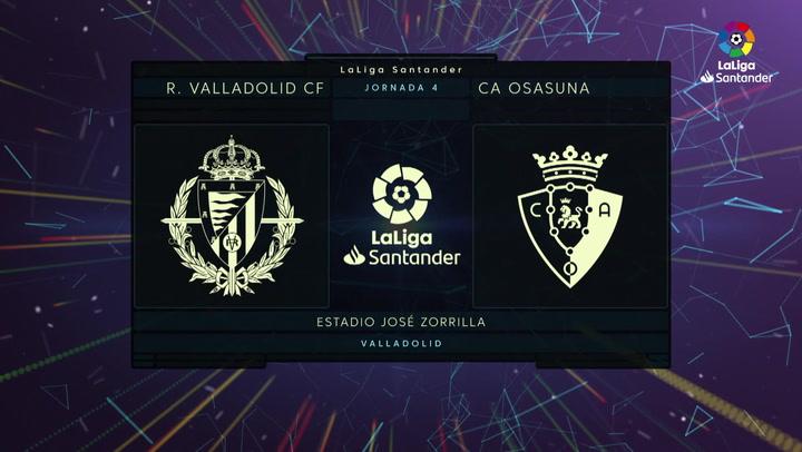 LaLiga (J4): Resumen y goles del Valladolid 1-1 Osasuna