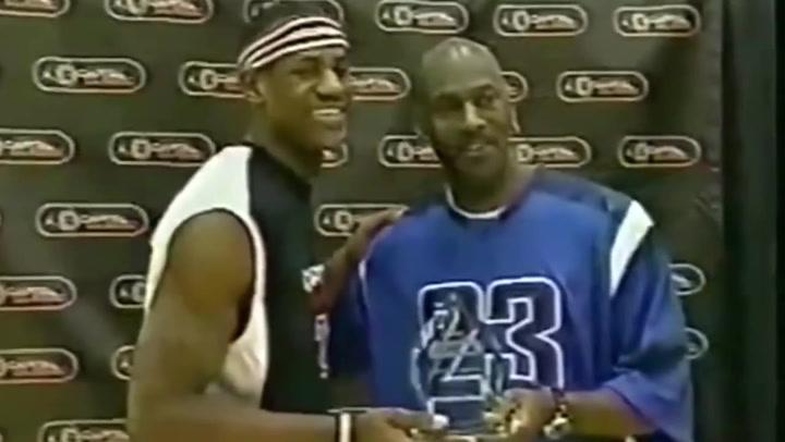El día que Lebron James conoció, con 16 años, a Michael Jordan