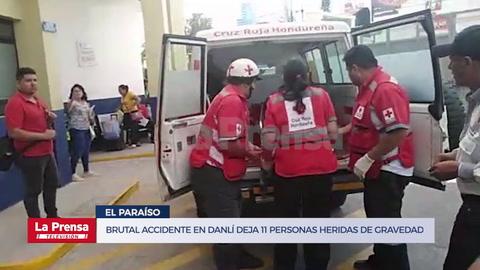 Brutal accidente en Danlí deja 11 personas heridas de gravedad