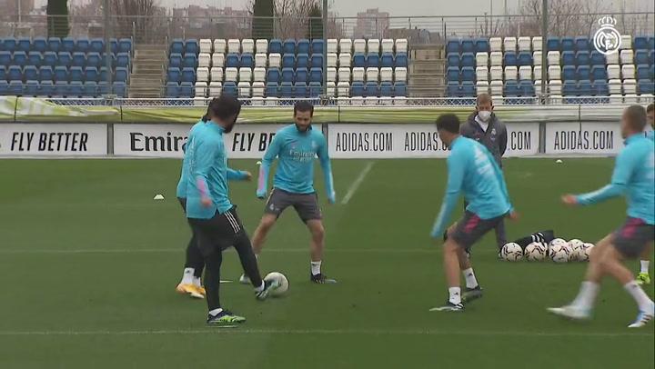 El Real Madrid prepara el partido ante el Valencia