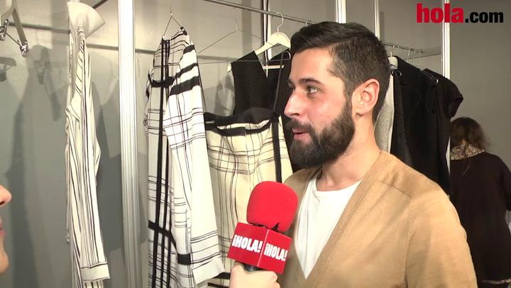 Moisés Nieto: 'La colección es muy ponible, para vestir a diario, desde la mañana hasta la noche'