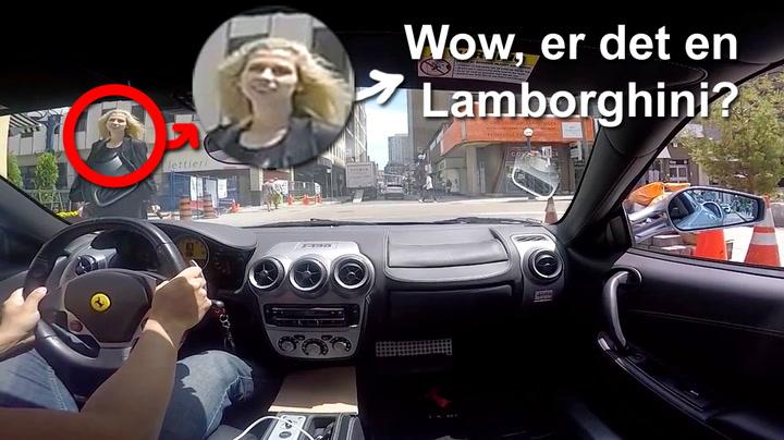 Reaksjonene du må tåle når du kjører en Ferrari