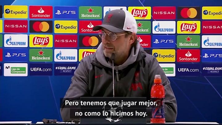 Klopp tras la derrota 3-1 ante el Real Madrid: