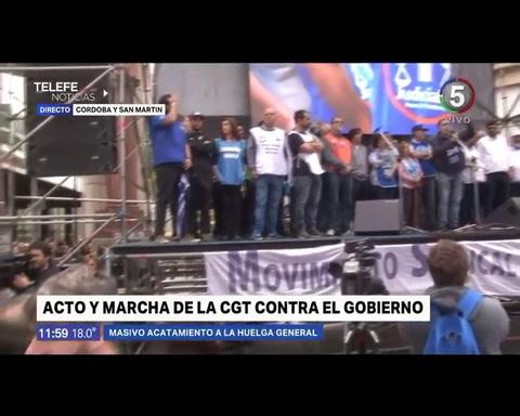 El paro fue contundente y en Rosario se sintió con más fuerza