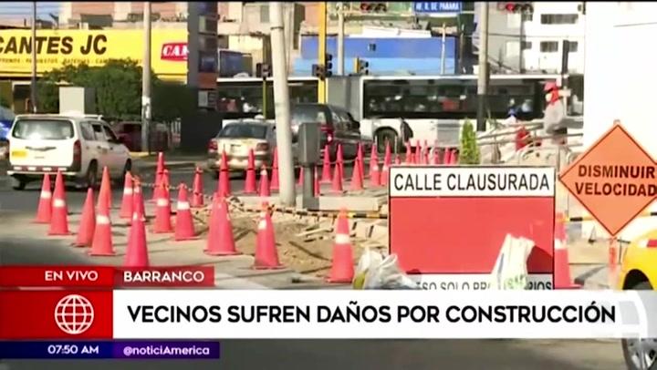 Barranco: vecinos denuncian estar siendo afectados por nueva obra de construcción en la zona