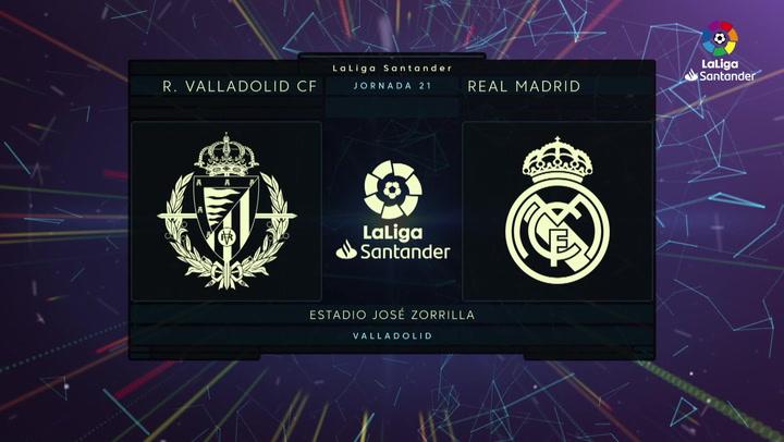 LaLiga (J21): Resumen y gol del Valladolid 0-1 Real Madrid