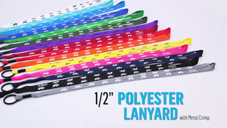 1/2 Inch Polyester Lanyard with Metal Crimp
