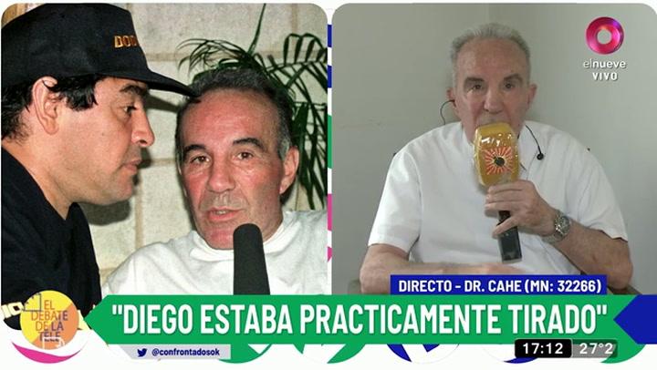 El doctor Alfredo Cahe reveló que Diego Maradona intentó suicidarse en Cuba