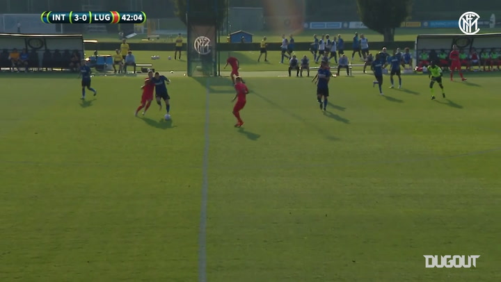 Pra-musim: Dua Gol Lautaro Martinez Vs Lugano