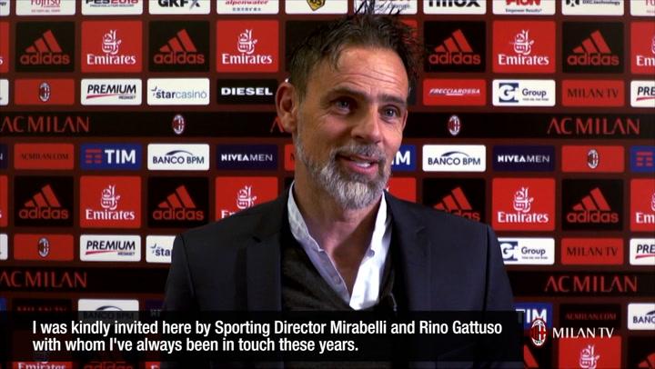 Marco Simone at Milanello
