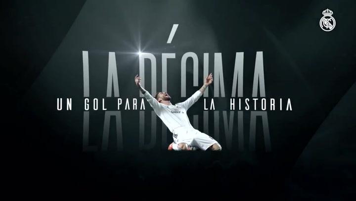 Sergio Ramos se sigue emocionando cuando recuerda el gol que dio la Décima al Real Madrid