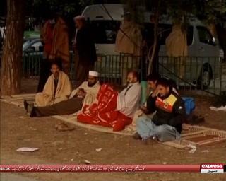 سلام آباد میں حکومت سے مذاکرات کامیاب ہونے کے باوجود سرکاری ملازمین کا دھرنا