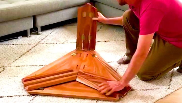 These origami-inspired furniture pieces can be folded flat in seconds