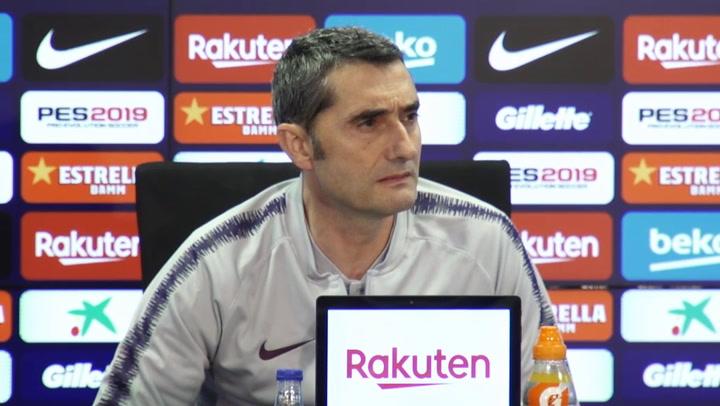 """Valverde: """"La afición tiene que estar con nosotros, no contra Griezmann"""""""