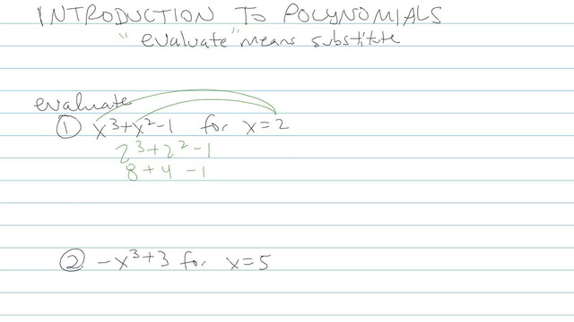Introduction to Polynomials - Problem 3