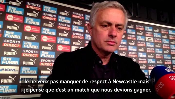 """30e j. - Mourinho : """"C'est un match que nous devions gagner"""""""