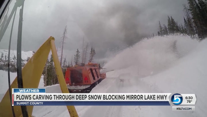 Mirror Lake Highway Blocked By Deep Snow
