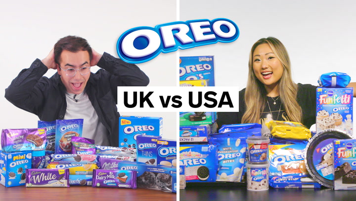 Every difference between US and UK Oreos