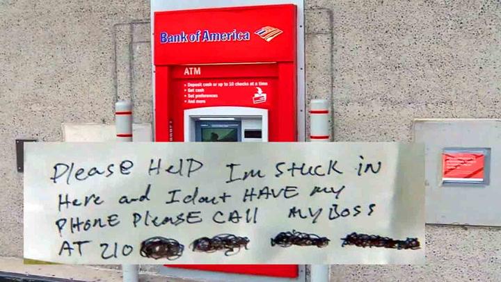Klumsete låsesmed låste seg inne i minibank