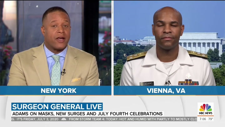 Surgeon General Adams on Fourth of July Celebrations: Wear a Mask if You Want 'Freedom,' Independence'