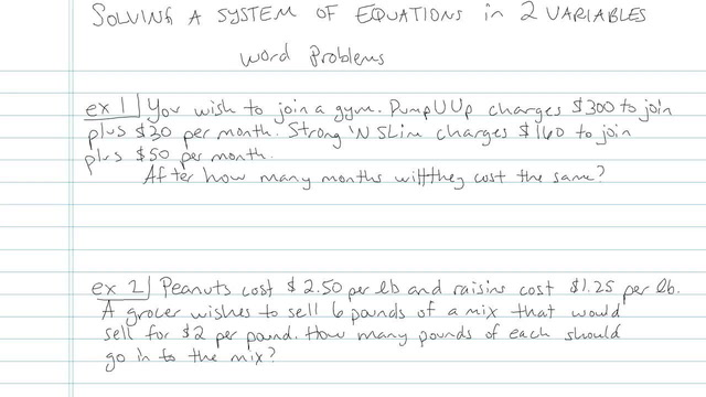 Solving a System of Linear Equations in Two Variables - Problem 8