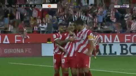García abre el marcador para el Girona que ya gana sobre el Madrid