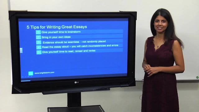 5 Tips for Writing Great Essays
