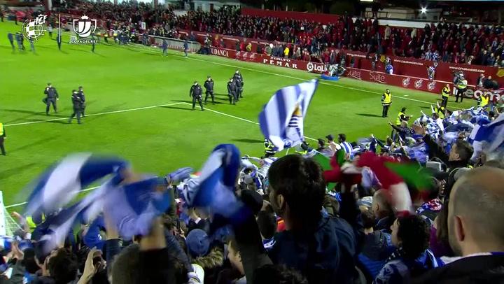 Así celebró la Real Sociedad el histórico pase a la final de Copa
