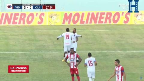 Así fue el gol de Bengtson que abrió el marcador en el Vida - Olimpia