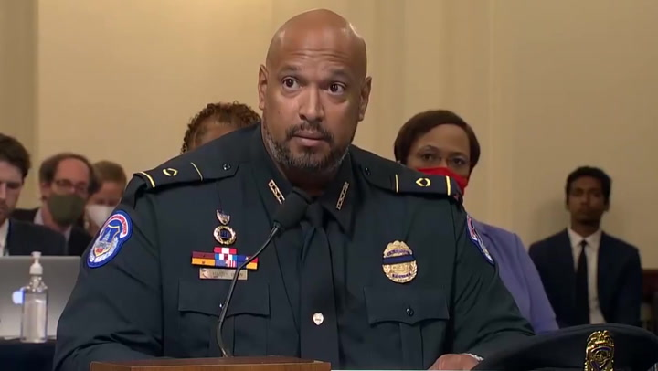 Capitol police officers calls moment of silence for fallen colleague during Jan 6 hearing