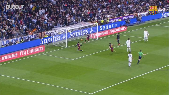 Luis Suárez's First El Clásico Goal At Santiago Bernabéu