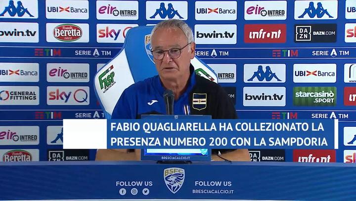 """Ranieri: """"Ripartiamo con Quagliarella per il futuro"""""""