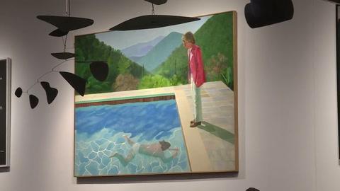Un Hockney se vende en $90 millones, récord para artista vivo