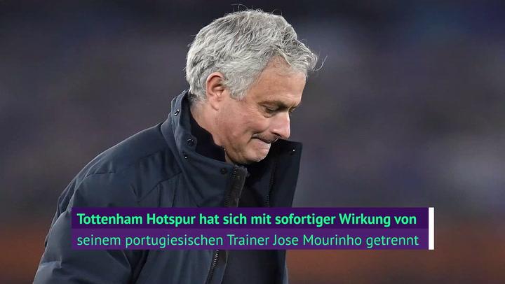 Mourinho gefeuert! Tottenham zieht die Reißleine