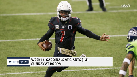 What are the odds the Giants beat the Cardinals in Week 14?