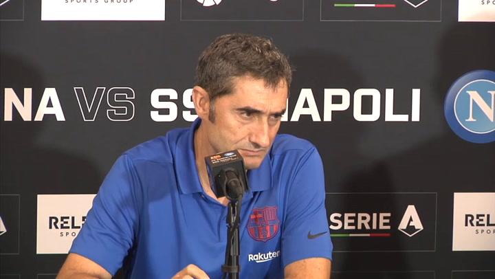 Valverde habla tras el partido ante el Nápoles