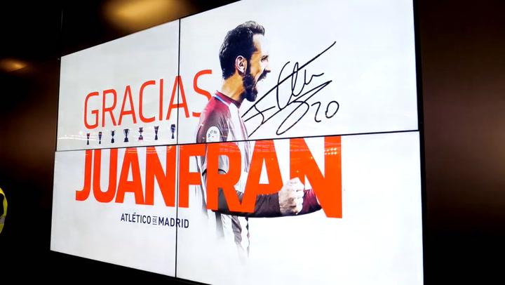 Juanfran Torres, recibe el homenaje del Wanda Metropolitano