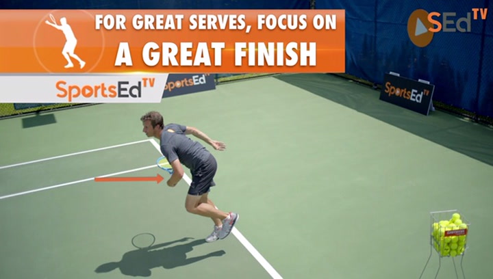 For Great Serves, Focus On A Great Finish