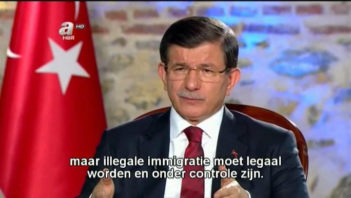 De reactie van premier Davutoglu
