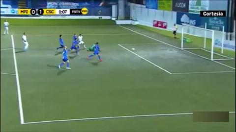 Roger Rojas marca su segundo gol con el Cartaginés de Costa Rica
