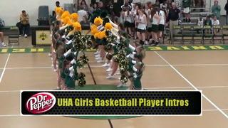 UHA Girls Basketball Player Introductions