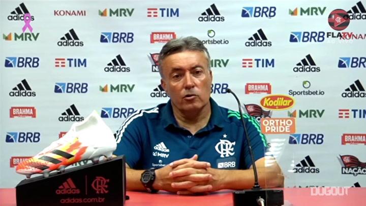 """Domènec enaltece força do elenco do Flamengo: """"Todos estão prontos"""""""