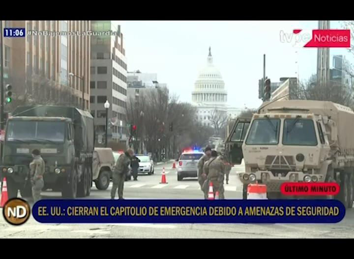 Estados Unidos: cierran el Capitolio por una amenaza de seguridad