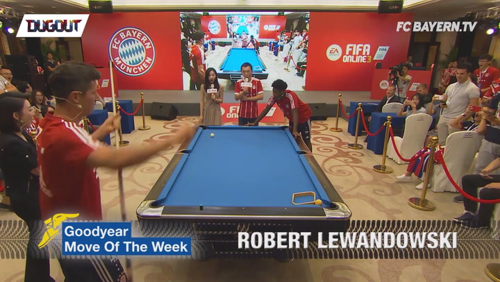 Lewandowski's Pool Trick Shot