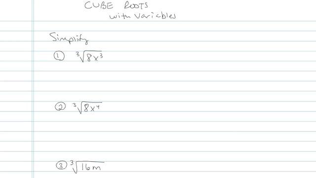 Cube Roots - Problem 1