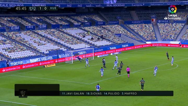 Gol de Rafa Mir (1-1) en el Real Sociedad 4-1 Huesca